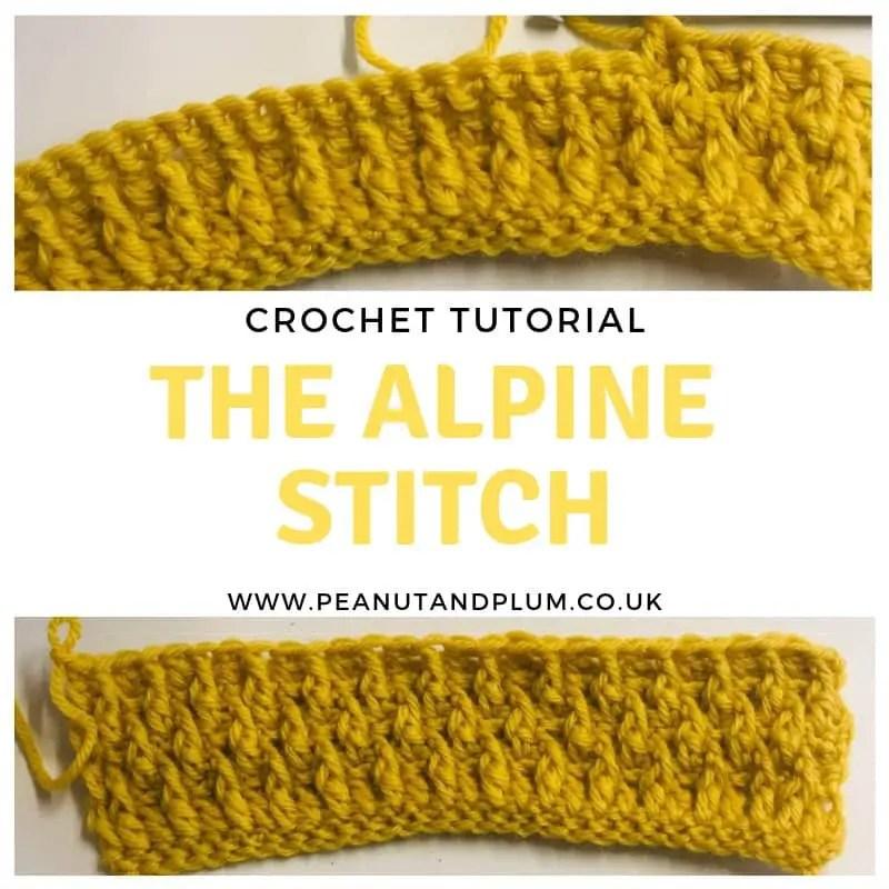 The Alpine Stitch Crochet Tutorial With Video Peanut And Plum
