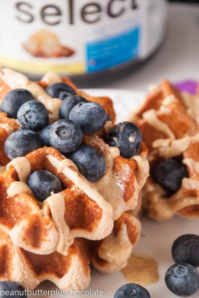 Four Ingredient Blondie Protein Waffles