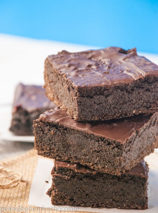 The Ultimate Healthy Brownie {No Beans, No Oil, No Bananas, No Butter and Still FUDGY}