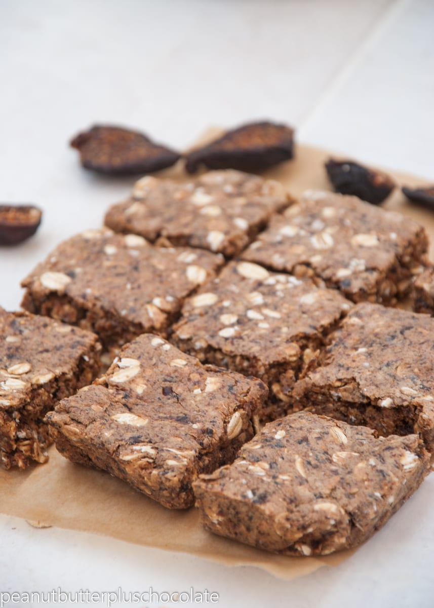 Barely Baked Oatmeal Fig Bars {high protein}
