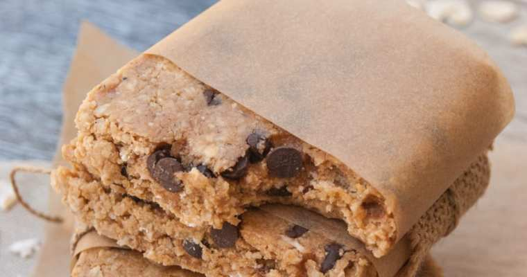 Chocolate Chip Energy Bars {high protein}