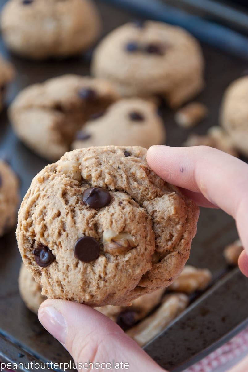 Healthy Chocolate Chip Peanut Butter Walnut Cookies