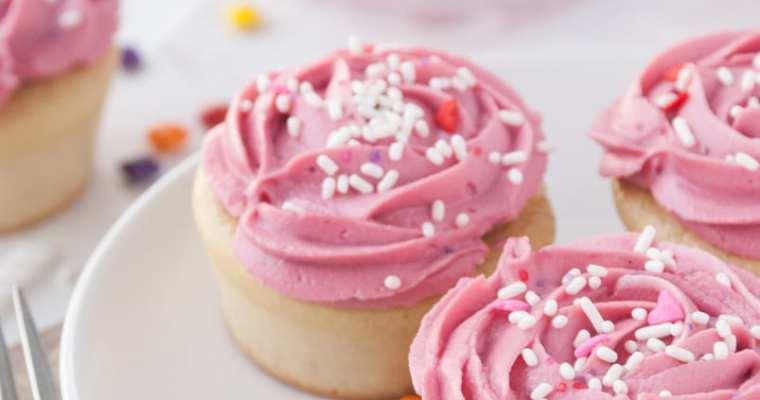 Healthy Vanilla Piñata Cupcakes
