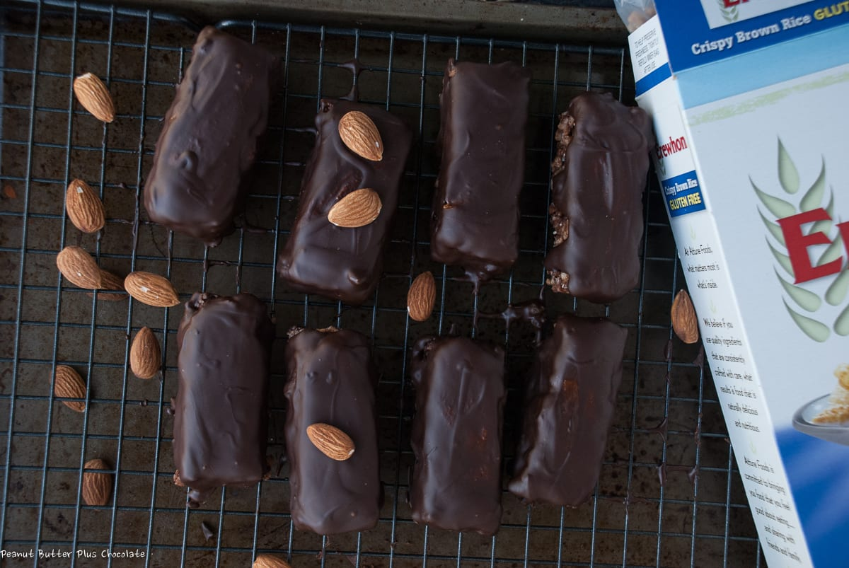Healthy Double Chocolate Almond Butter Crispy Bars