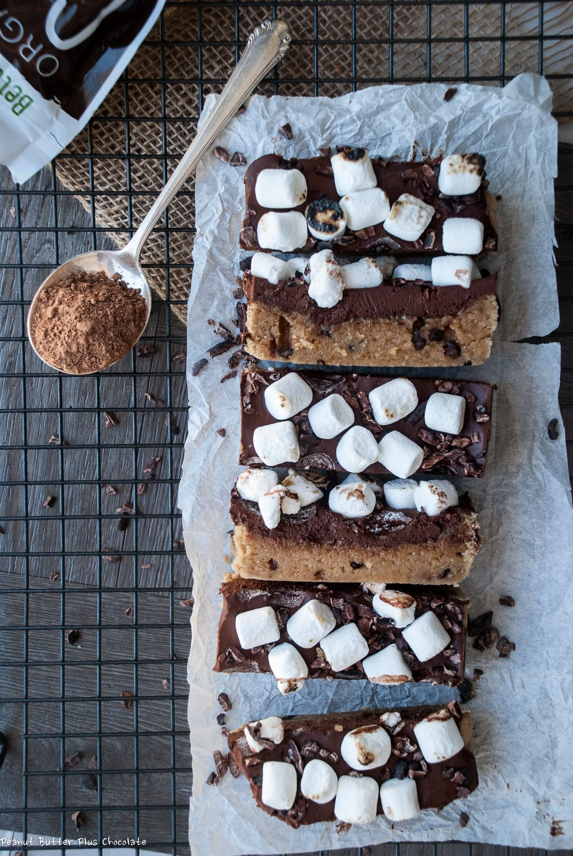 Healthy Chocolate Chip Cookie S'mores Bars
