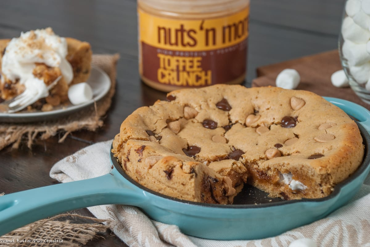Healthy Deep Dish Peanut Butter S'mores Cookie Pie – ciarra