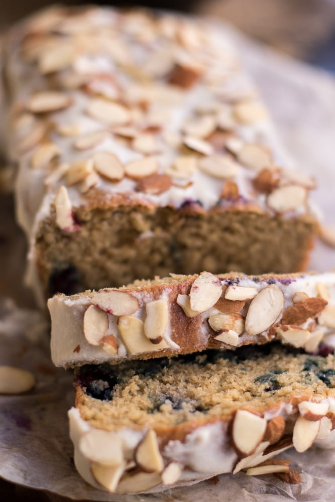 Healthy Blueberry Almond Ricotta Cake
