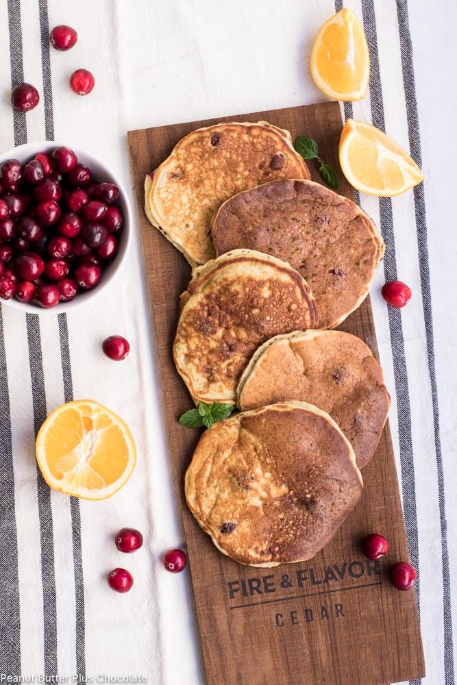 Healthy Cranberry Orange Pancakes