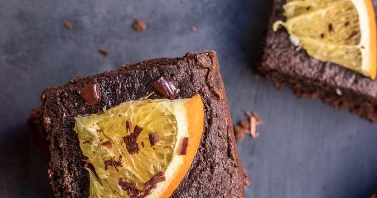 Healthy Chocolate Orange Brownies (gluten-free, vegan and paleo option)