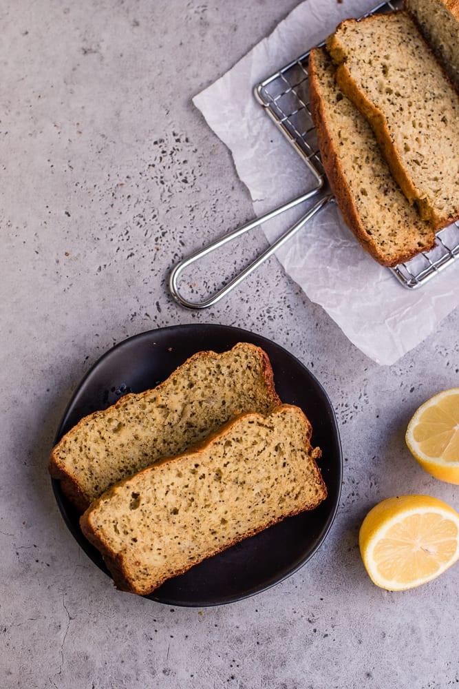 Healthy Lemon Poppy Seed Banana Bread
