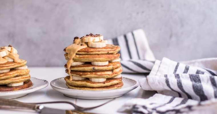 Healthy Chunky Monkey Pancakes