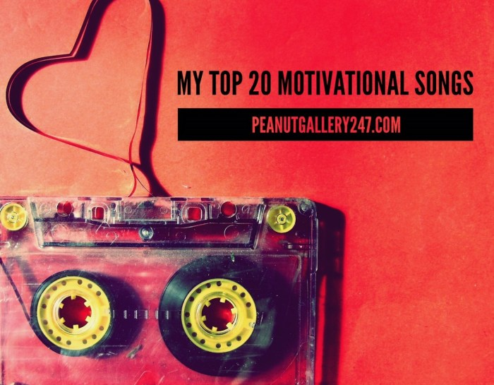 My Top 20 Motivational Songs