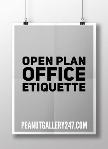 Open Plan Office Etiquette