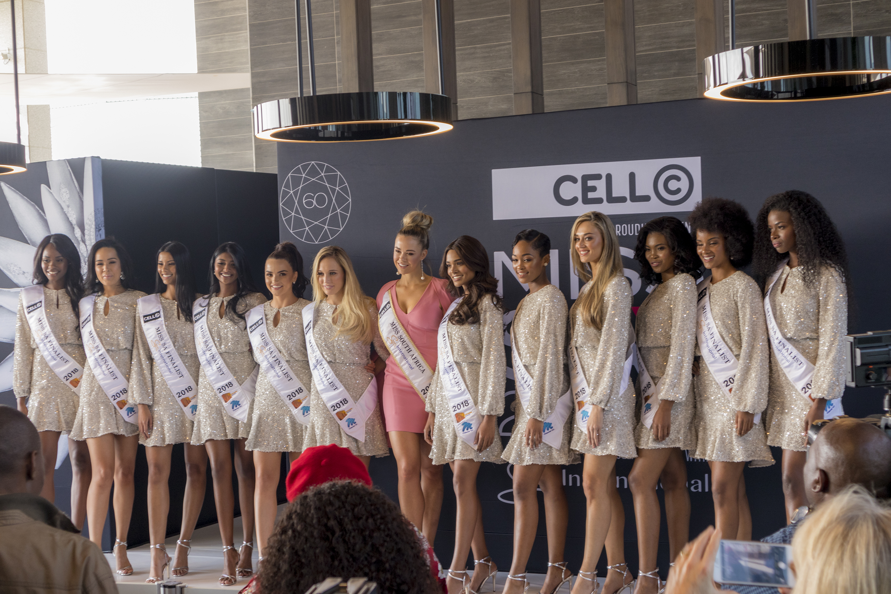 Miss SA 2018 Top 12 Finalists with Adè van Heerden