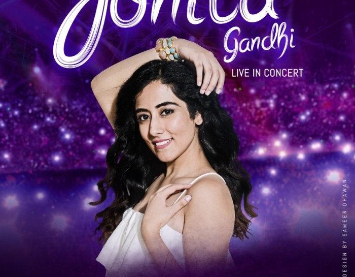 Jonita Gandhi to perform in SA for the first time
