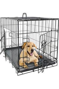 OxGord Double-Door Folding Metal Dog Crate