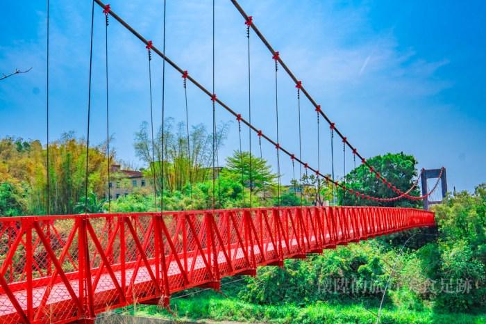 【台南吊橋】跨越彩虹的吊橋,烏山頭水庫必遊「跨虹吊橋」