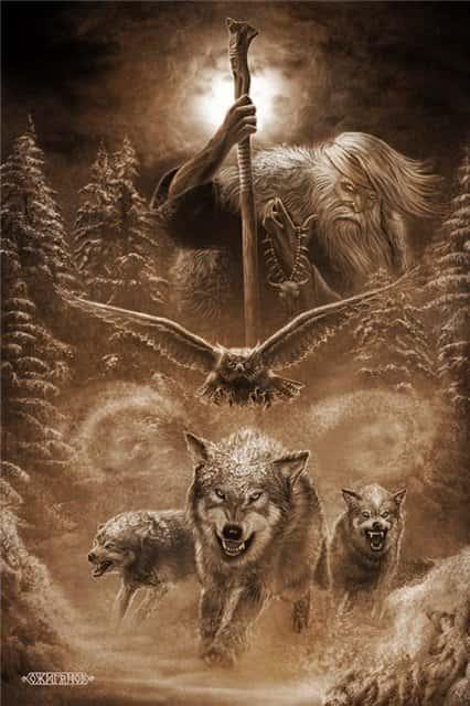 겨울의 밤에는 조상들의 영혼이 우리의 세계에 왔으며, 그들이 살았던 것처럼 자손에게 물어볼 수있었습니다. 그것은 의로운 야?