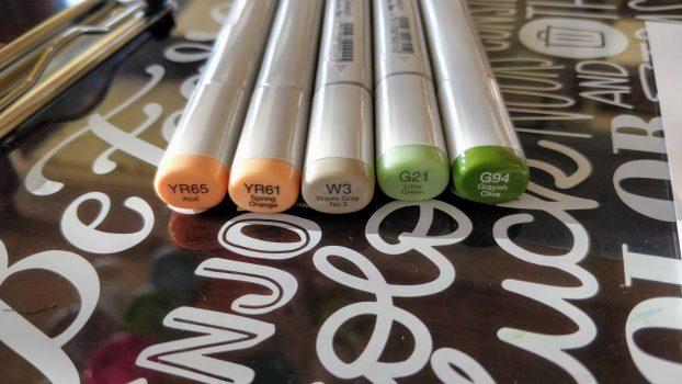 Color Palette Copic Markers