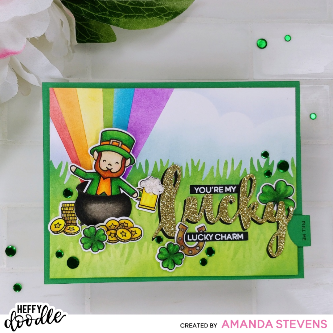 Dancing Leprechaun Interactive Card – Heffy Doodlers Challenge