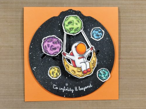 Swinging on the Moon Double Dial Card