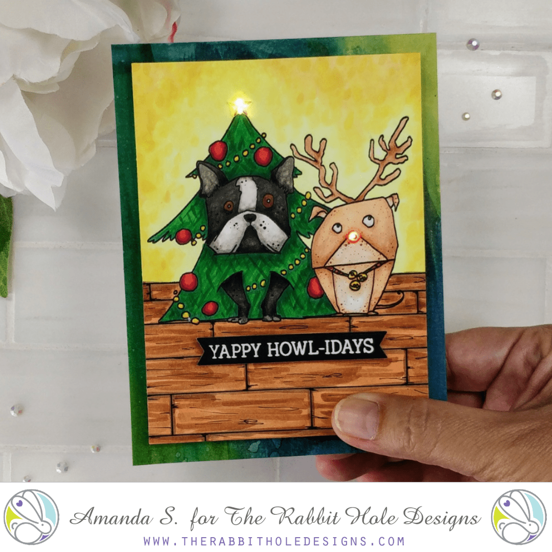 Yappy Howlidays Light-up Christmas Card