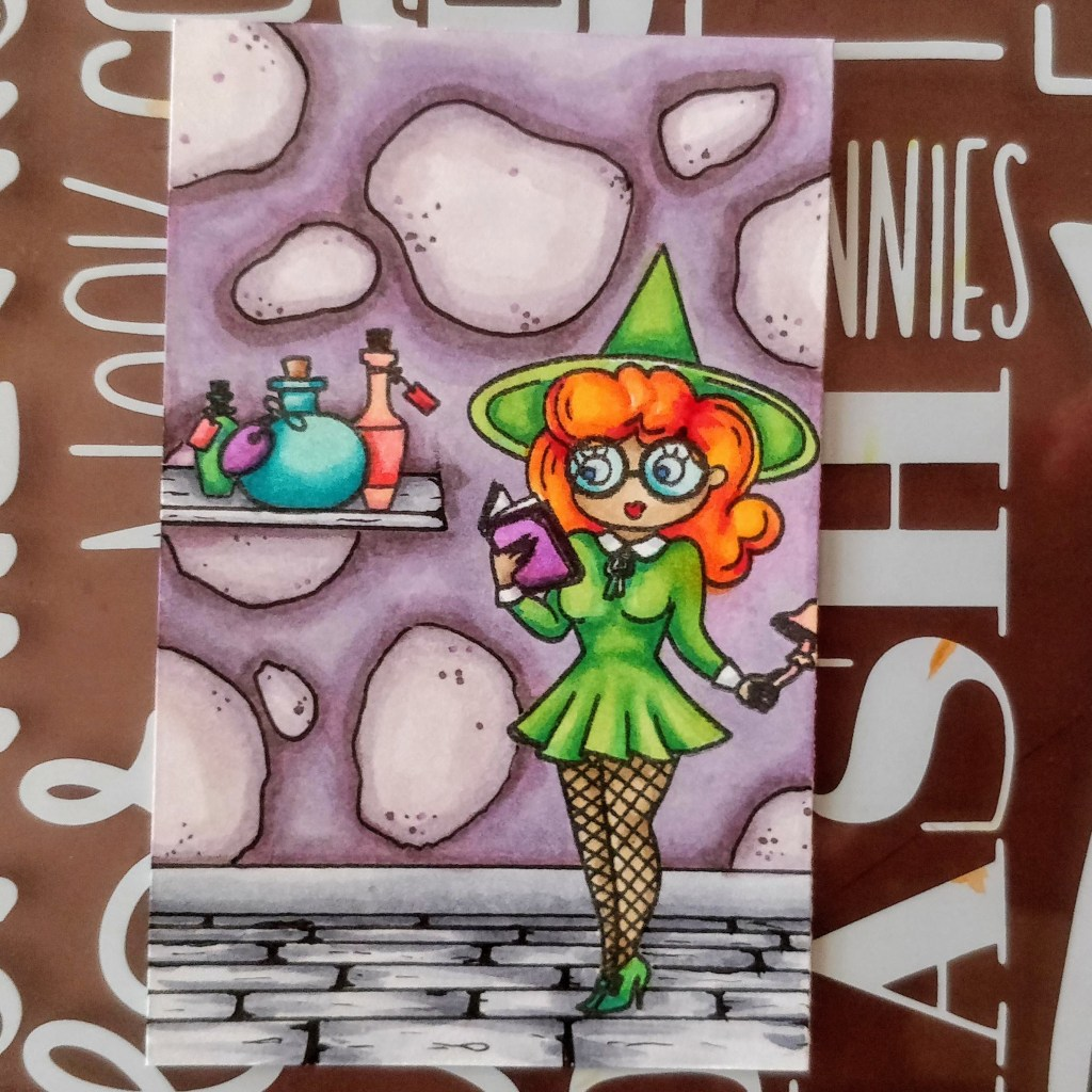 Draw a Scene Pear Blossom Press Halloween Witch