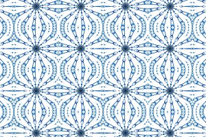 Fern Cobalt and Blue Fabric ; Pearl and Maude