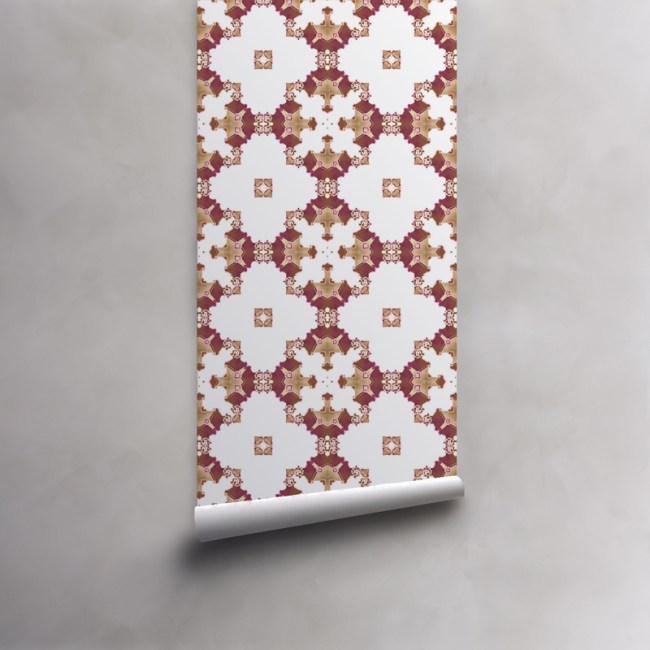 los angeles wallpaper roll red burgundy gold art deco