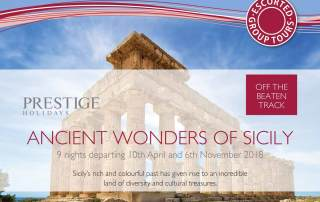 Prestige Holidays - Ancient Wonders of Sicily Tour Offer - April 2018