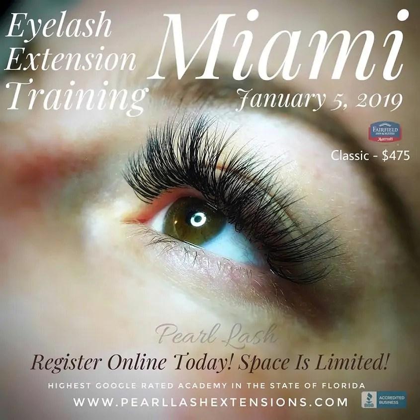 miami classic eyelash extension training january 5, 2019 by pearl lash