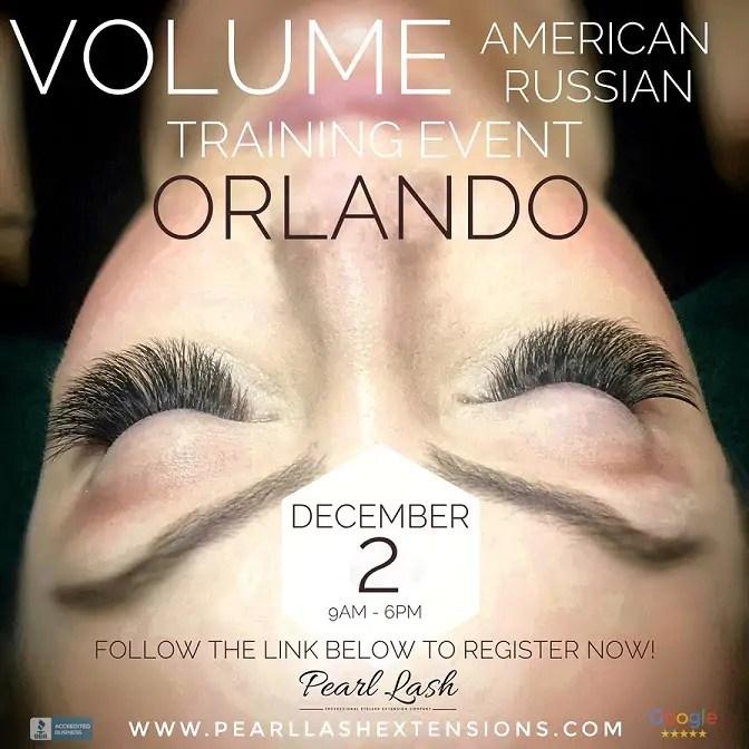 Volume Orlando Eyelash Extension Training December 2 Pearl Lash