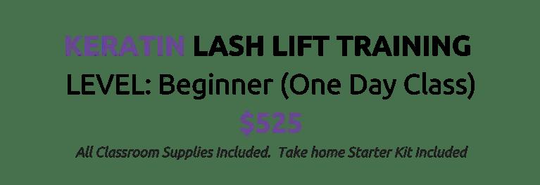 Lash Lift Training