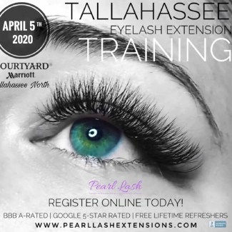 Eyelash Extension Training Tallahassee Pearl Lash