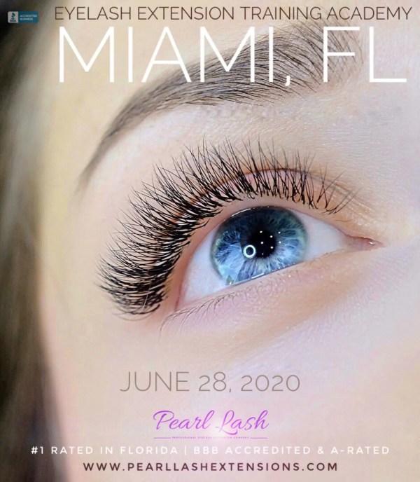 Miami Eyelash Extension Classic Training by Pearl Lash