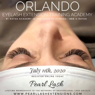 Orlando Eyelash Extension Training by Pearl Lash