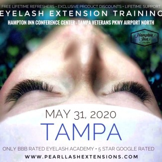 Tampa Eyelash Extension Classic Training by Pearl Lash