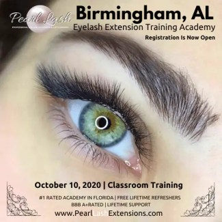 Birmingham Alabama Eyelash Extension Training by Pearl Lash
