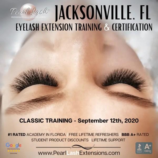 Jacksonville Eyelash Extension Training by Pearl Lash