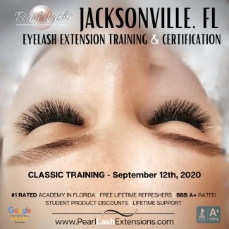 Jacksonville Eyelash Extension Training by Pearl Lash