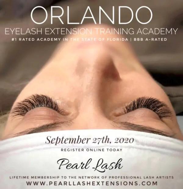 Classic Eyelash Extension Training Orlando by Pearl Lash