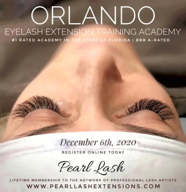 Orlando Eyelash Extension Classic Training by Pearl Lash