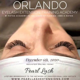 Orlando Eyelash Extension Classic Training by Pearl Lash