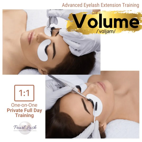 Volume Private Eyelash Extension Training by Pearl Lash