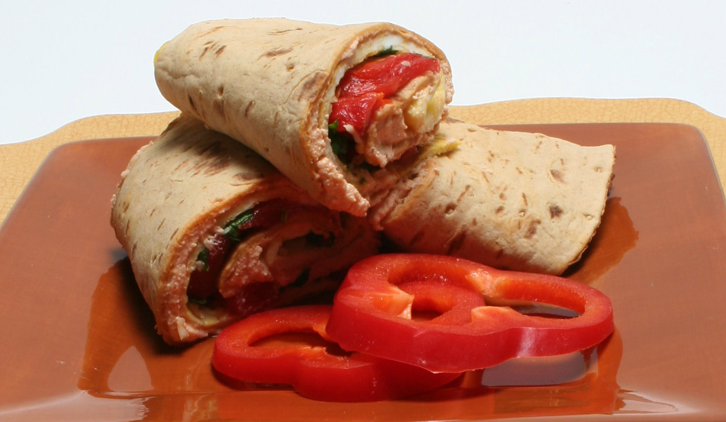 Egg And Roasted Red Pepper Wrap