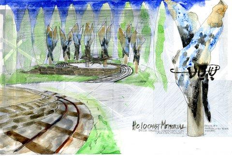 Original Art Work Holocaust Memorial 09 14 2015