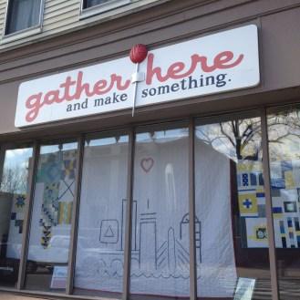 Gather Here sidewalk sale.