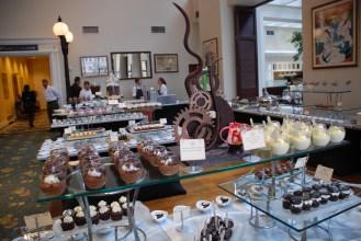 Chocolate sculptures.