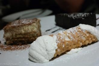 No visit to the North End is complete without a cannoli. Many would wait in line at Mike's Pastry for the full Boston North End cliché experience. It has to be done at least once. But staying comfy at your table in Artú and being served desserts like these makes you rethink stepping outside. The cannoli filling was almost like a vanilla ice cream flavour but a ricotta texture. The shell was perfectly crisp.