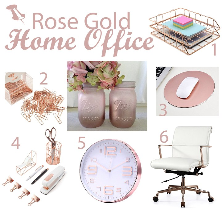 Rose Gold home Office